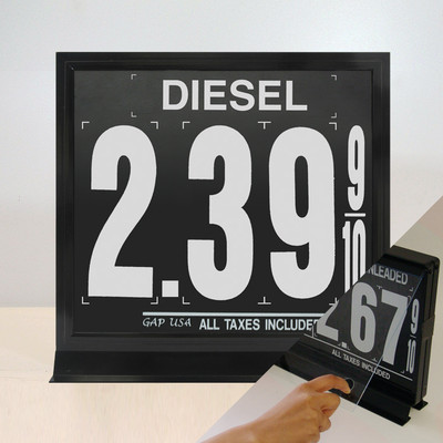 "1 Grade M110 Series Pump Top Fuel Price sign w/ 9"" Magnetic Digits"