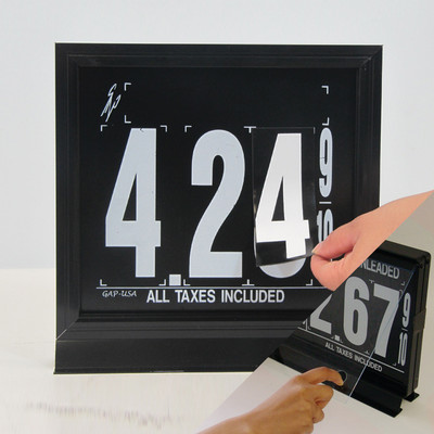"1 Grade M120 Series Pump Top Fuel Price sign w/ 8"" Magnetic Digits"