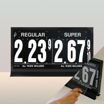 "2 Grades M200 Series Pump Top Fuel Price sign w/ 4.5"" Magnetic Digits"