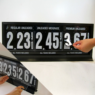 "3 Grades M300 Series Pump Top Fuel Price sign w/ 4.5"" Magnetic Digits"