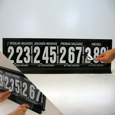 "4 Grades M400 Series Pump Top Fuel Price sign w/ 4.5"" Magnetic Digits"