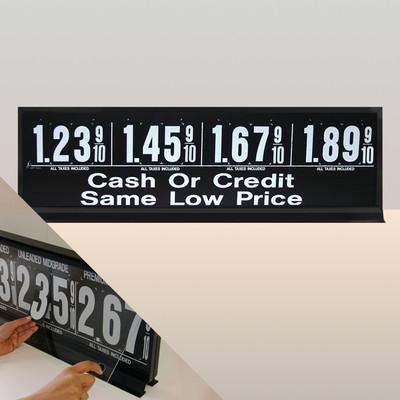 "4 Grades M430 Series Pump Top Fuel Price sign w/ 4.5"" Magnetic Digits"