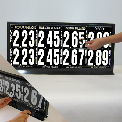 """4 Grades 2 Levels M440 Series Pump Top Fuel Price sign w/ 4.5"""" Magnetic Digits"""