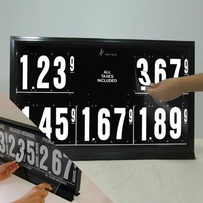 "5 Grades M550 Series Pump Top Fuel Price sign w/ 4.5"" Magnetic Digits"