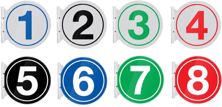"Pump Number Flag Mount 10"" Round Signs"