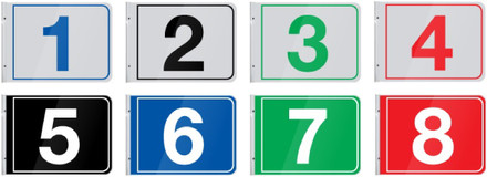 "Pump Number Flag Mount 12"" Rectangular Signs"