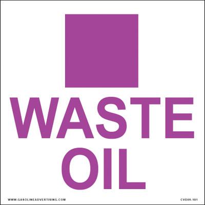 CVD09-181 WASTE OIL