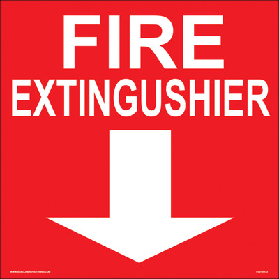 CVD10-132 Fire Prevention Decal - FIRE EXTINGUISHER