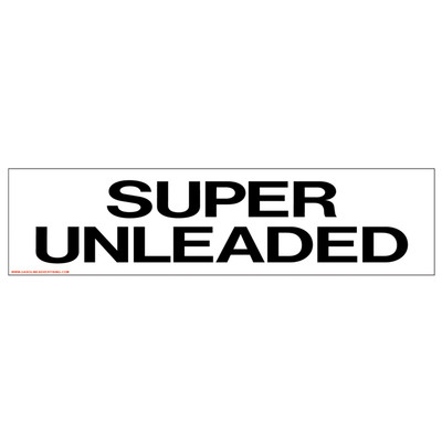 D-309 Pump Ad. Panel Decal - SUPER UNLEADED