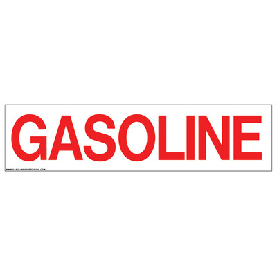 D-313 Pump Ad. Panel Decal - GASOLINE