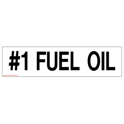 D-323 Pump Ad. Panel Decal - #1 FUEL OIL