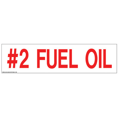 D-324 Pump Ad. Panel Decal - #2 FUEL OIL