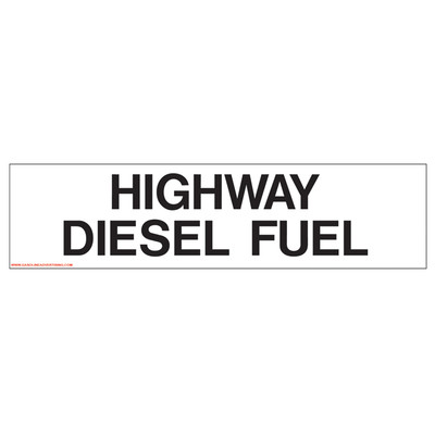 D-327 Pump Ad. Panel Decal - HIGHWAY DIESEL FUEL