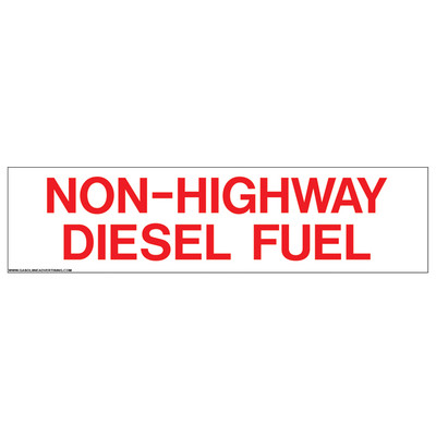 D-328 Pump Ad. Panel Decal - NON-HIGHWAY DIESEL FUEL