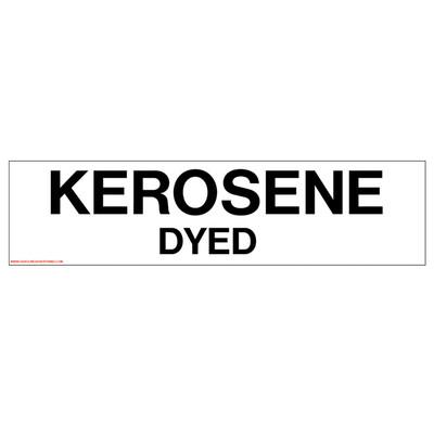 D-333 Pump Ad. Panel Decal - KEROSENE DYED