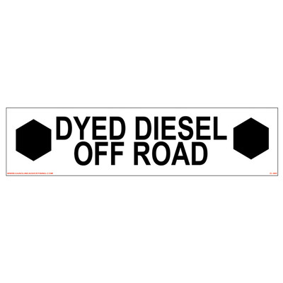 D-380 Pump Ad. Panel Decal - DYED DIESEL