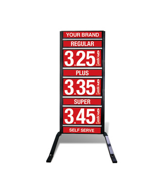 "3 GRADES VXS310 SERIES FUEL PRICE SIGN WITH 12"" FLIP DIGITS VERSA DISPLAY - FREESTANDING - CURB STAND - MONUMENT STYLE"