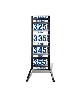 "4 GRADES VXS410 SERIES FUEL PRICE SIGN WITH 12"" FLIP DIGITS VERSA DISPLAY - FREESTANDING - CURB STAND - MONUMENT STYLE"