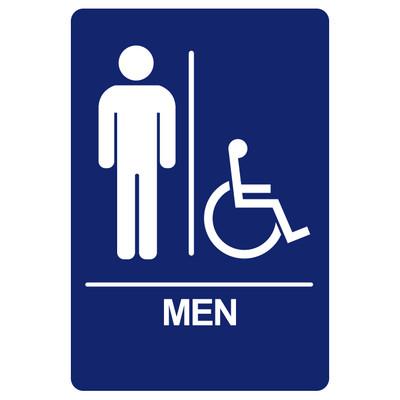 BRS-03 Restroom Sign - MEN / HANDICAP