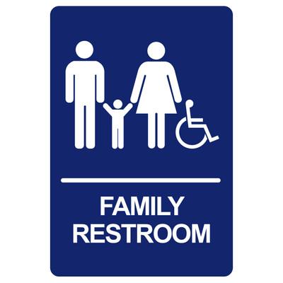 BRS-05 Restroom Sign - FAMILY RESTROOM