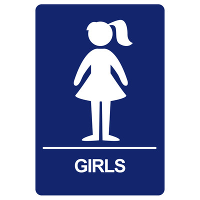 BRS-07 Restroom Sign - GIRLS