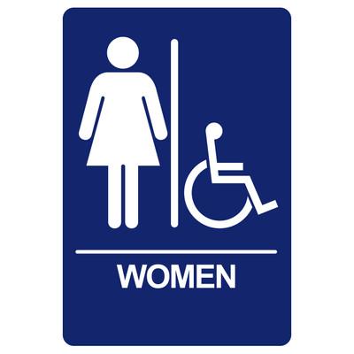 BRS-09 Restroom Sign - WOMEN / HANDICAP