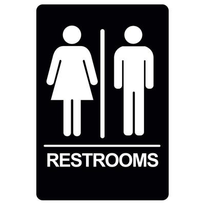 BRS-10 Restroom Sign - RESTROOMS