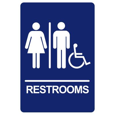 BRS-11 Restroom Sign - RESTROOMS / HANDICAP