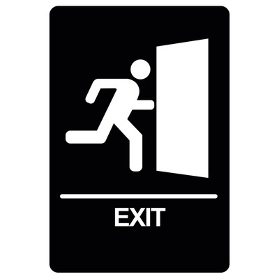 BRS-12 Restroom Sign - EXIT