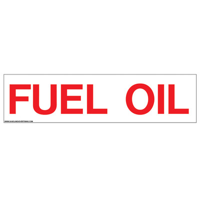 CVD-HTZ14 - FUEL OIL Decal
