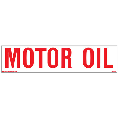 CVD-HTZ2 AST Decal - MOTOR OIL