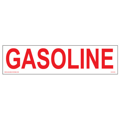 CVD-HTZ4 - GASOLINE Decal