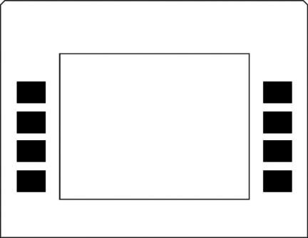 GA-EU01003G002B Monochrome Soft Key Overlay