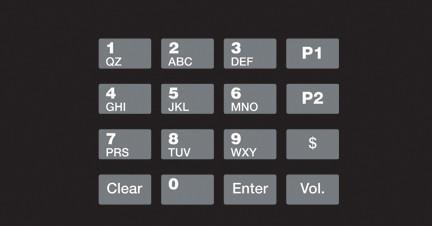 GA-EU03001G003 Keypad Overlays