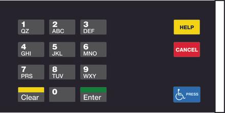 Gilbarco EU03004G006 Encore CRIND Keypad Overlay