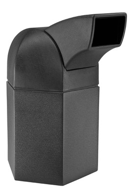 CZ-73800199 45-Gallon Hex w/ DriveThru Lid, Black