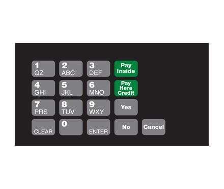 DG10-KPO-1 Keypad Overlay