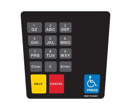 DG10-KPO-2 Keypad Overlay