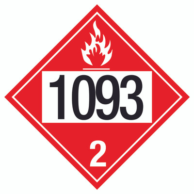 D.O.T PLACARD SIGN UN - 1093
