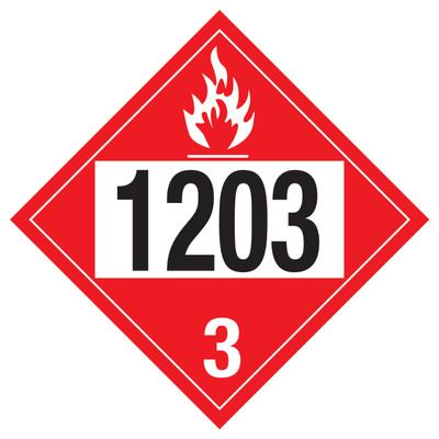 D.O.T PLACARD SIGN UN - 1203