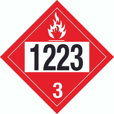 D.O.T PLACARD SIGN UN - 1223