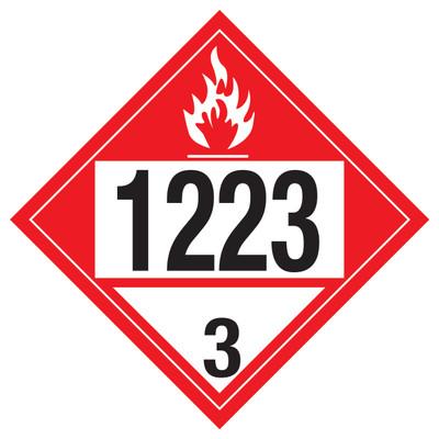 D.O.T PLACARD SIGN UN - 1223C