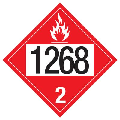 D.O.T PLACARD SIGN UN - 1268