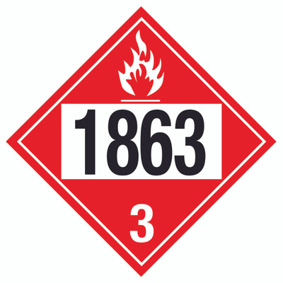 D.O.T PLACARD SIGN UN - 1863