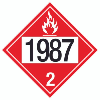 D.O.T PLACARD SIGN UN - 1987