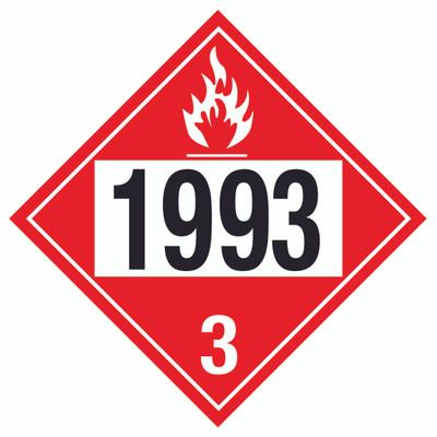 D.O.T PLACARD SIGN UN - 1993