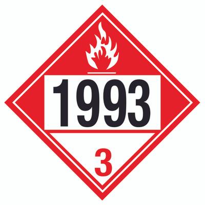 D.O.T PLACARD SIGN UN - 1993R