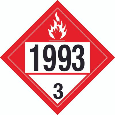 D.O.T PLACARD SIGN UN - 1993C