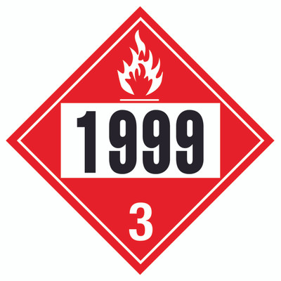 D.O.T PLACARD SIGN UN - 1999