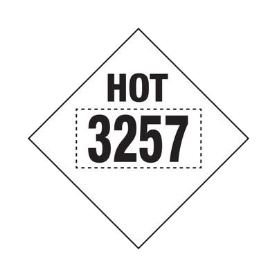 D.O.T PLACARD SIGN UN - 3257